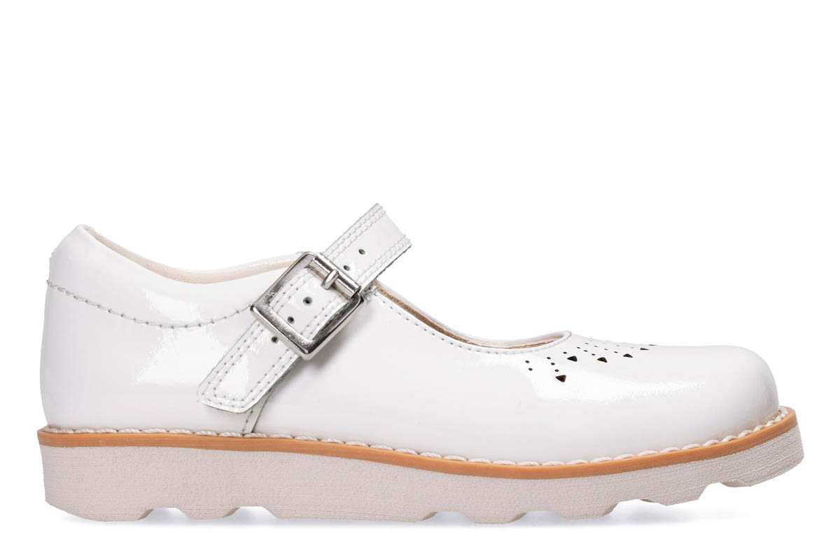 37fa94d91b1d5f Clarks Everyday Shoes - White patent - 3293/56F CROWN JUMP