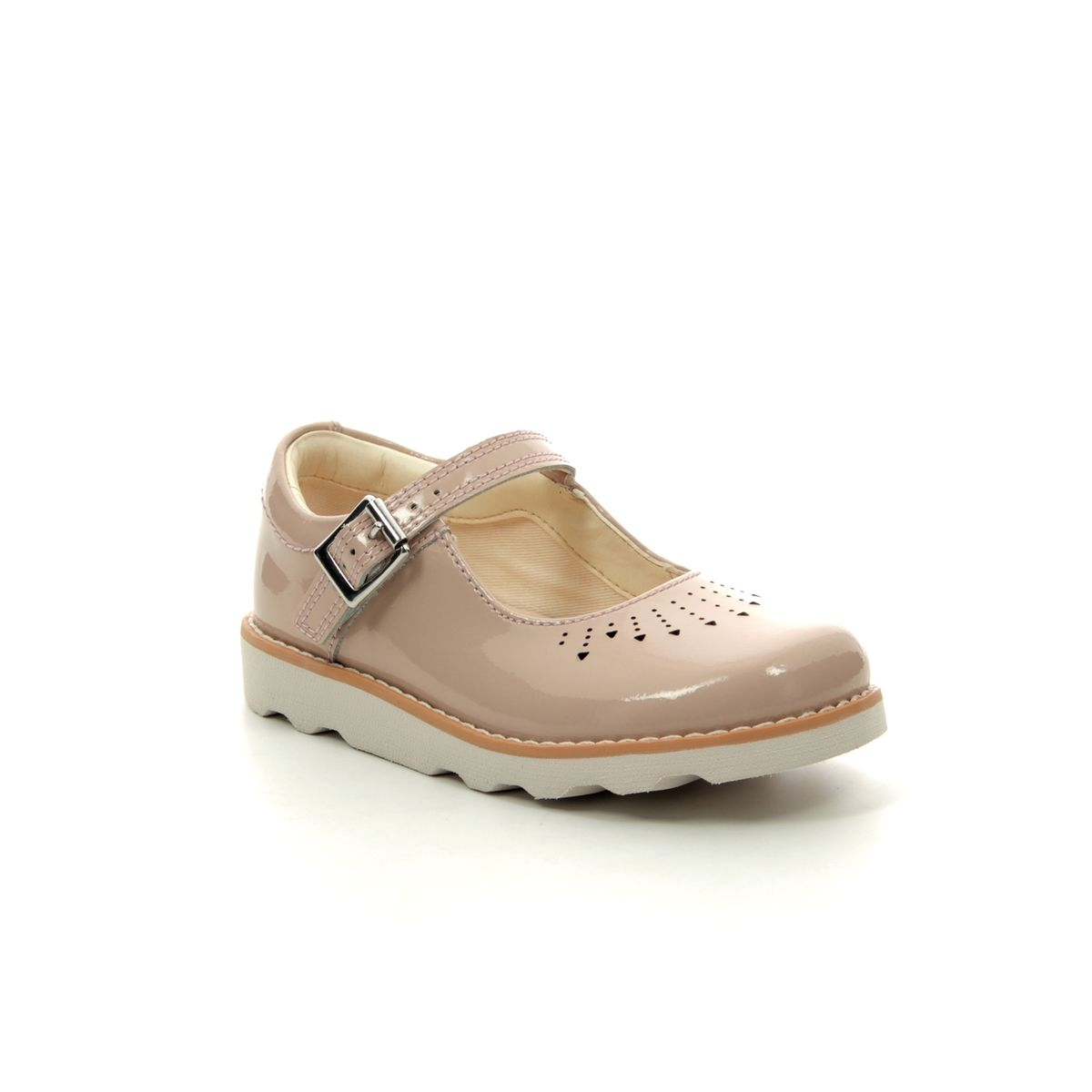 5a720f98fd8b Clarks First Shoes - Nude Patent - 415396F CROWN JUMP T