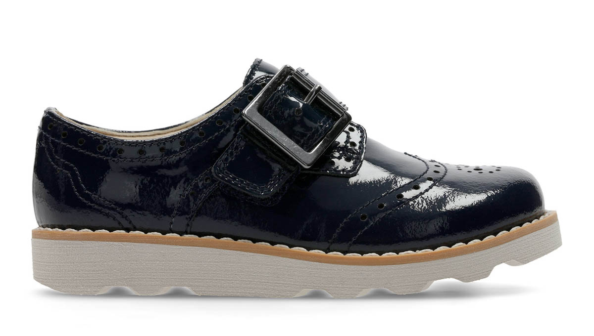 078caa293f3 Clarks Everyday Shoes - Navy patent - 3578 06F CROWN PRIDE INF