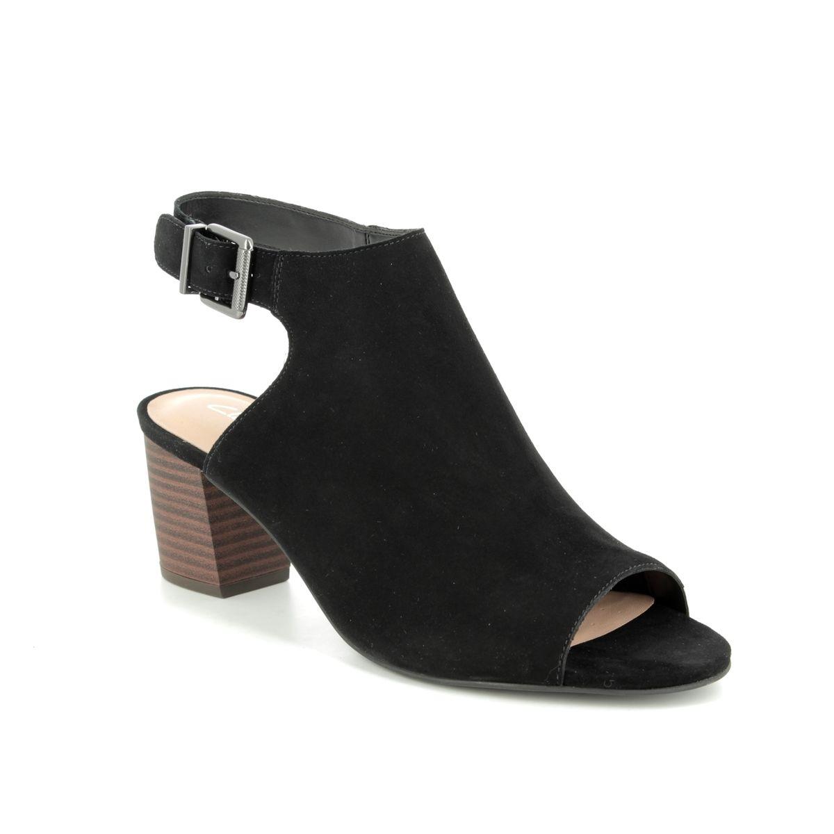 7f606c52fd9 Clarks Heeled Sandals - Black suede - 400994D DELORIA GIA