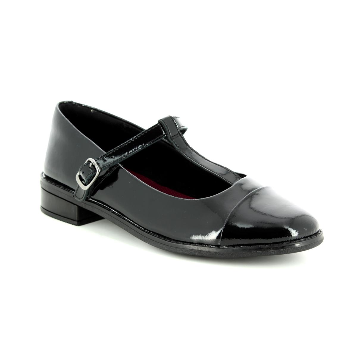 8fbf0476a74 Clarks School Shoes - Black Patent Leather - 3491/76F DREW SHINE