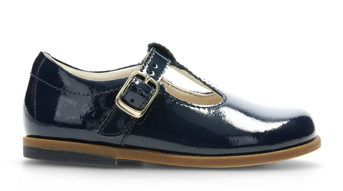 b2be5dac5 Clarks First Shoes - Navy patent - 3588/17G DREW SHINE