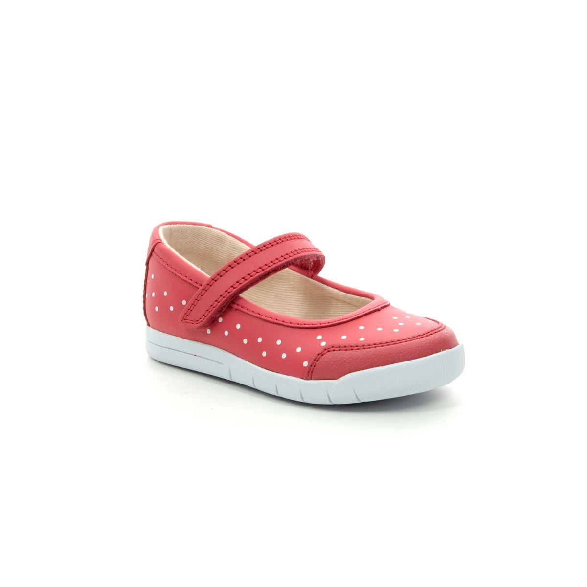 Clarks 411706F Emery Halo T Coral Kids First Shoes