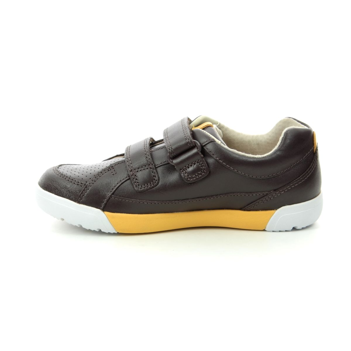 CLARKS Emery Walk K Junior Boys Leather Casual Shoe Size 10 to 13.5