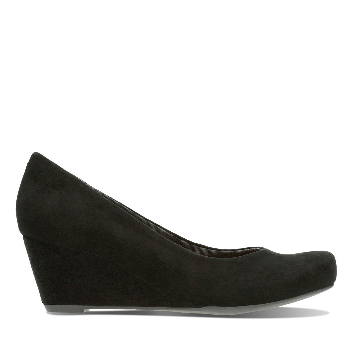 909082fd226c Clarks Wedge Shoes - Black suede - 2897 14D FLORES TULIP
