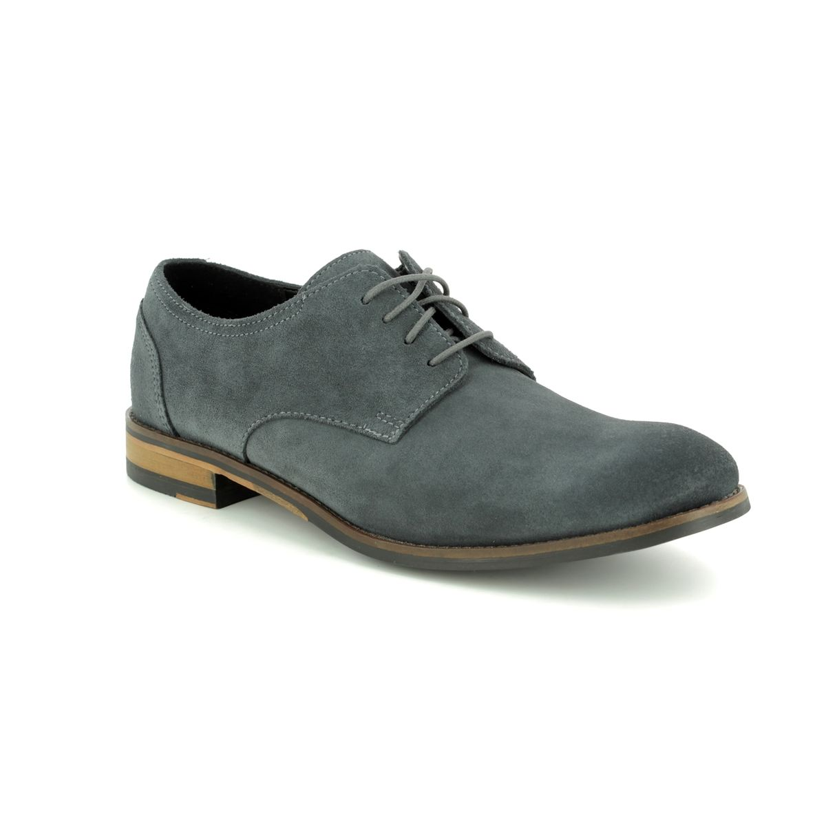 699ca4c4d78cf Clarks Fashion Shoes - Grey suede - 410407G FLOW PLAIN
