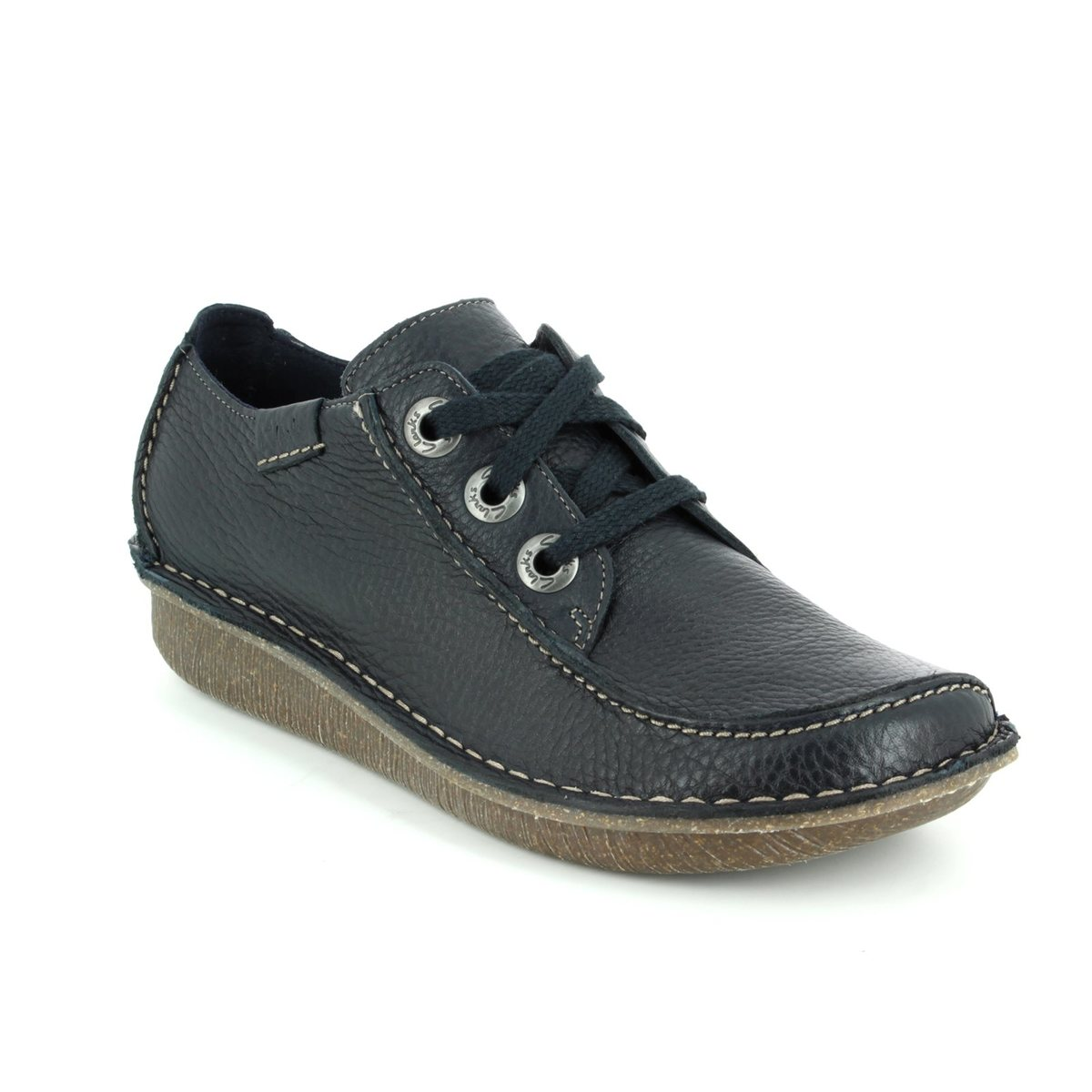 ed147f0446 Clarks Lacing Shoes - Navy - 0112 34D FUNNY DREAM