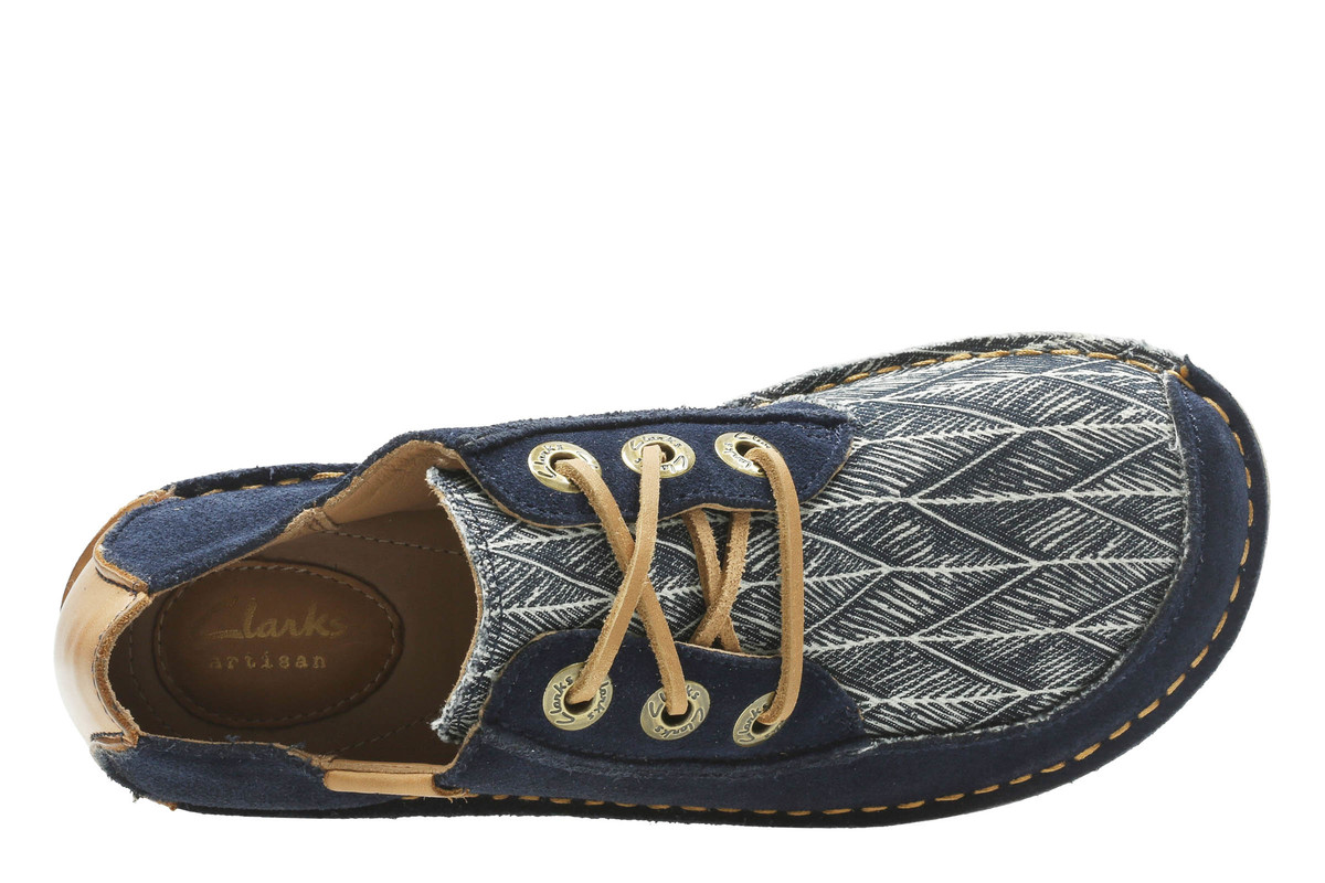 Clarks Funny Dream D Fit Navy Multi Lacing Shoes