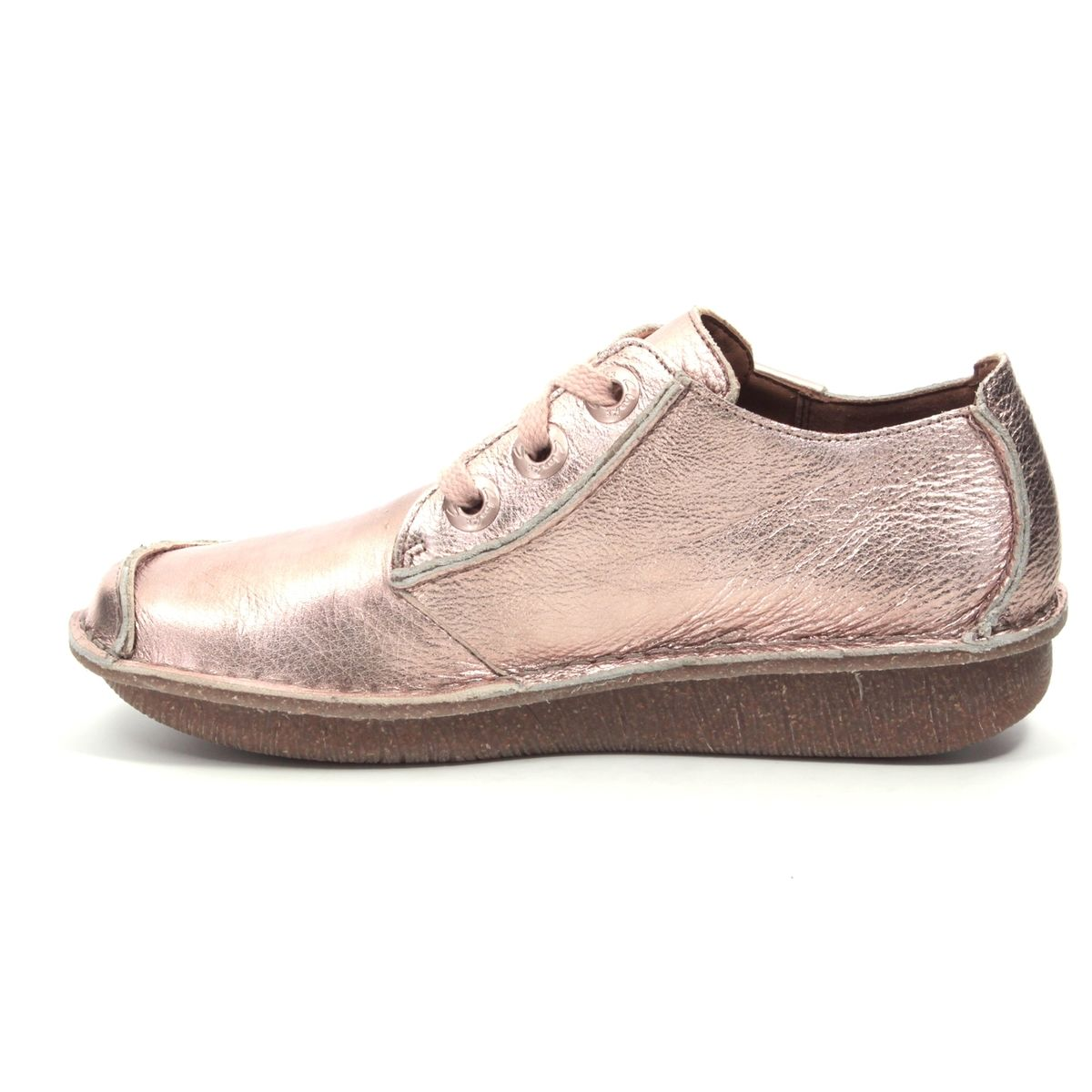 Clarks Funny Dream D Fit Pink lacing shoes