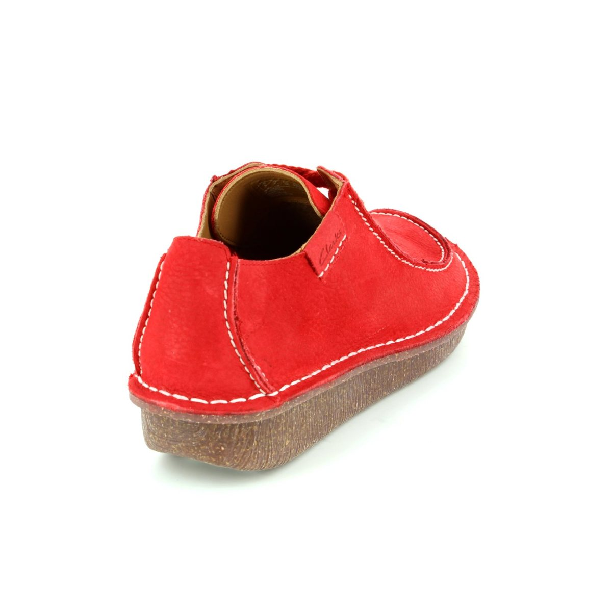 Clarks Funny Dream D Fit Red Lacing Shoes