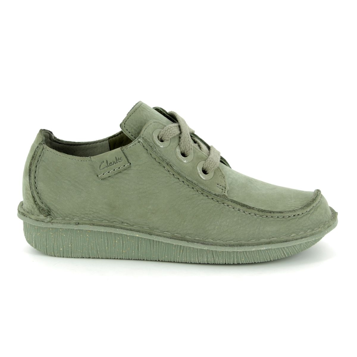 Details about Clarks 402324D FUNNY DREAM Sage green Womens lacing comfort shoes