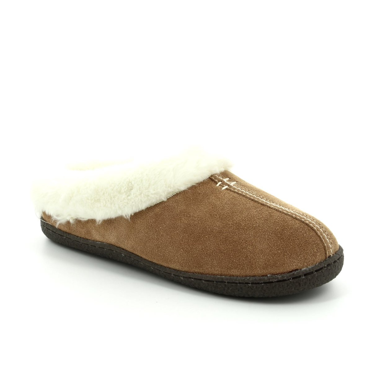96440d57 Clarks Slippers - Tan suede - 3043/04D HOME CLASSIC