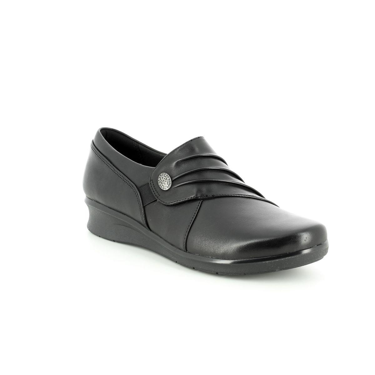 87e5032bc9f9 Clarks Comfort Shoes - Black leather - 3720 04D HOPE ROXANNE