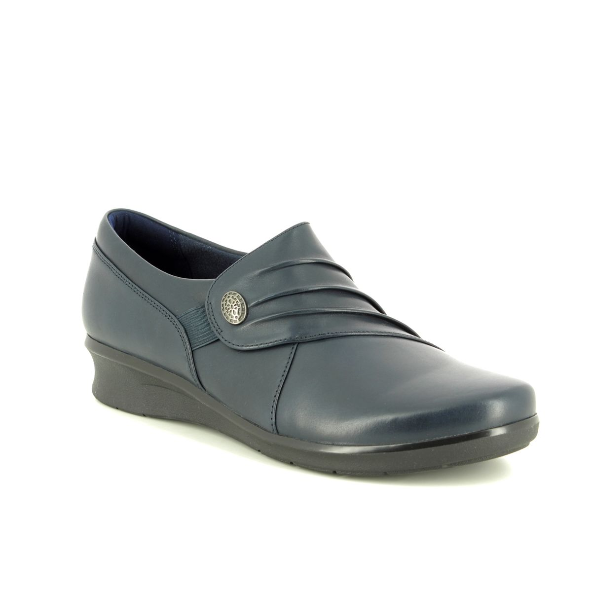 Clarks Hope Roxanne D Fit Navy Leather