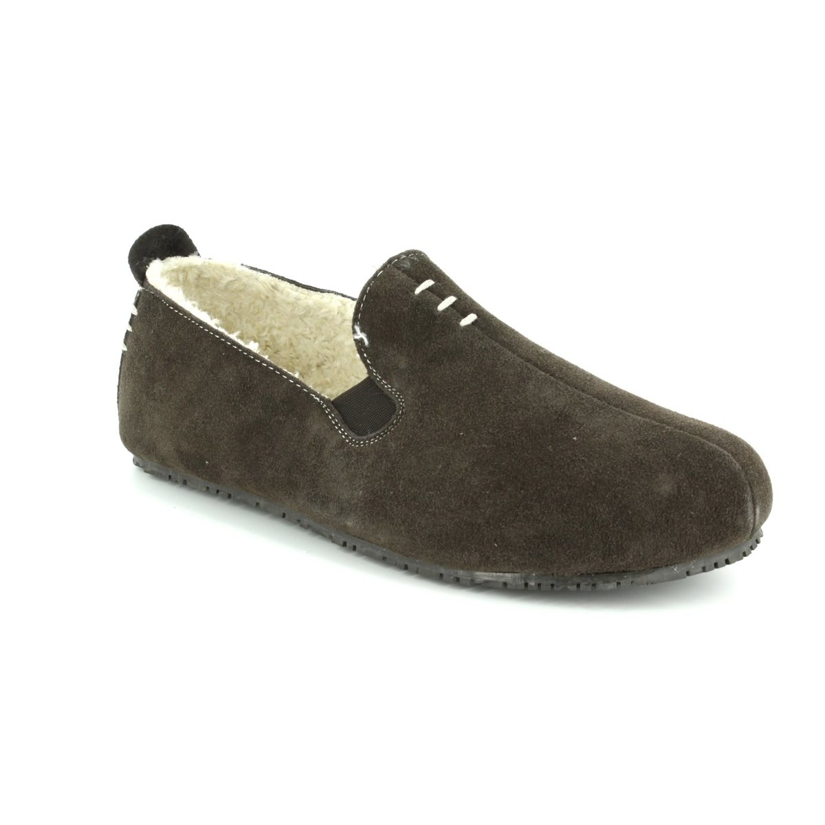 19f7b9b3a9edf Clarks Kite Falcon G Fit Brown suede mens slippers online
