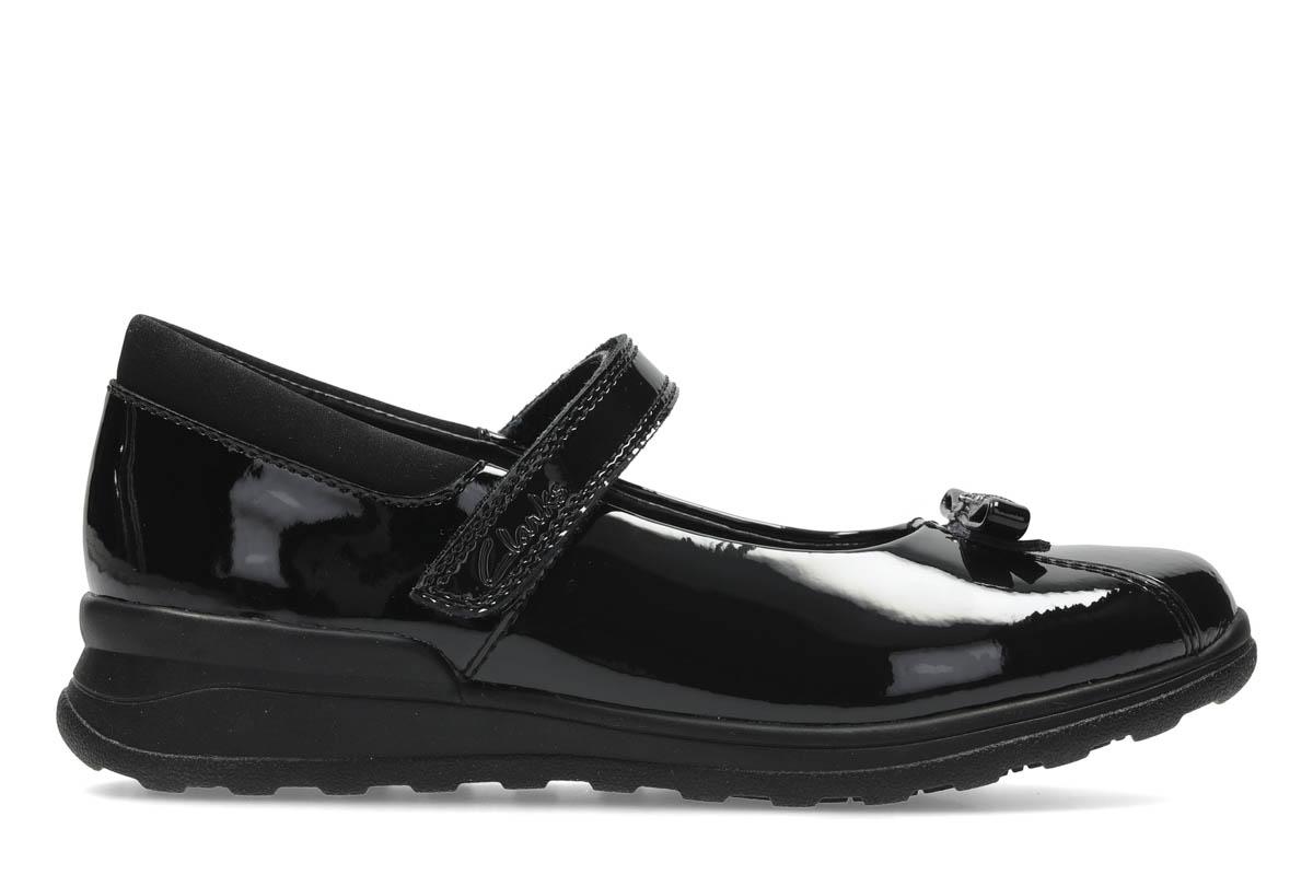 9f70f8f1add2 Clarks School Shoes - Black patent - 2661 87G MARIEL WISH INF