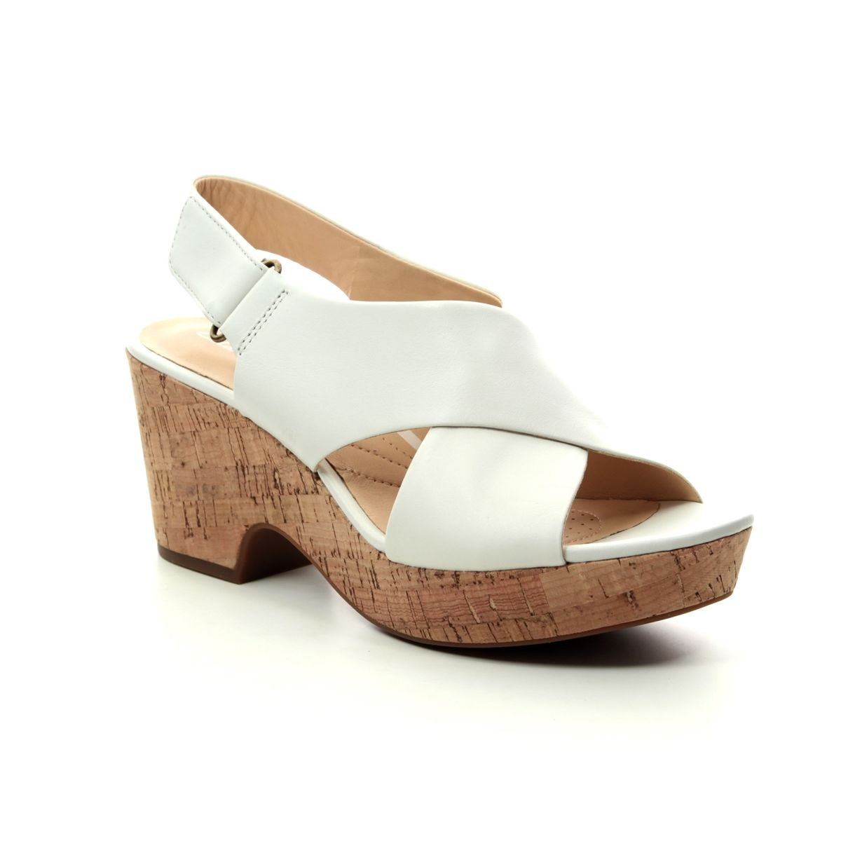 35a5bf709b9 Clarks Wedge Sandals - White - 413754D MARITSA LARA