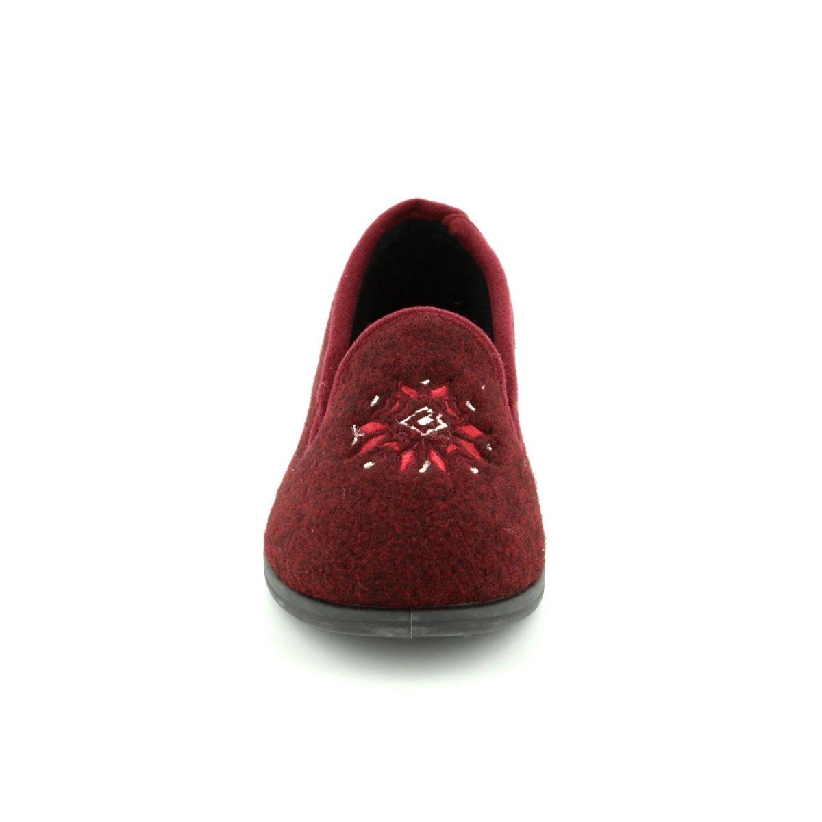 1cb257ee943 Clarks Slippers - Burgundy - 3070 14D MARSHA ROSE