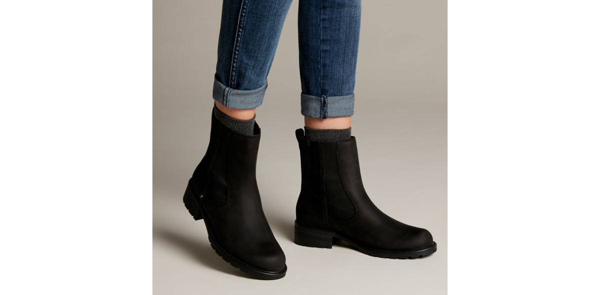 1d1f97ea80d3 Clarks Chelsea Boots - Black leather - 4091 84D ORINOCO CLUB