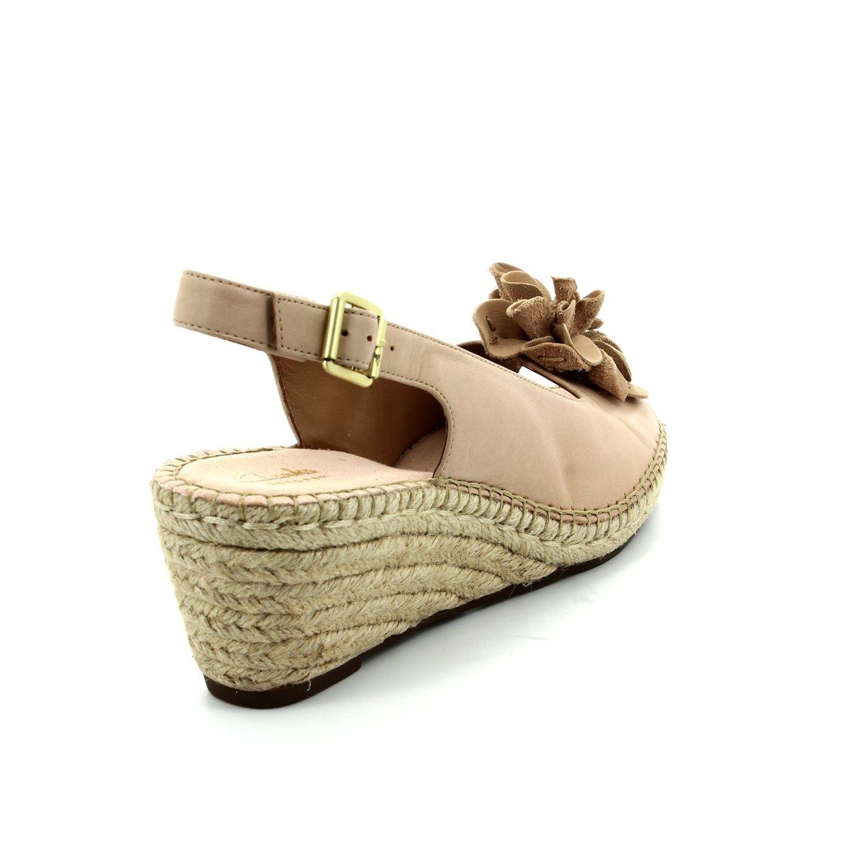 41604cc21f8b Clarks Wedge Sandals - Nude - 2422 24D PETRINA BIANCA