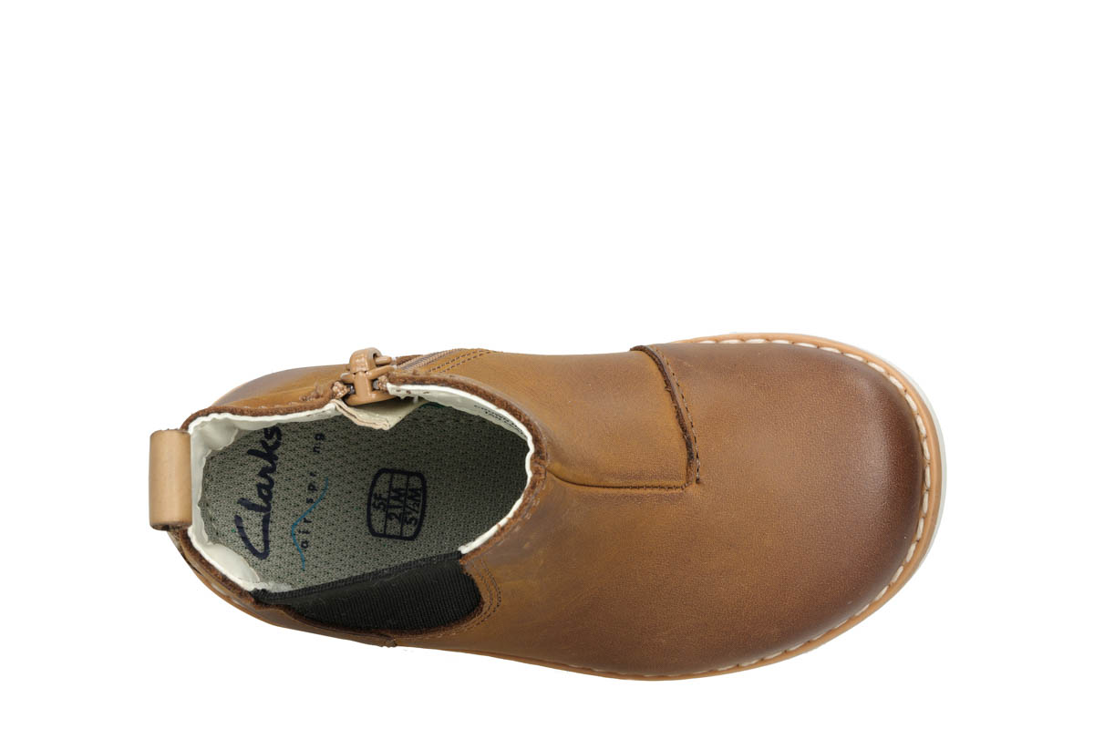 fb2fe3fc2c Clarks First Shoes - Tan Leather - 3714/46F CROWN HALO