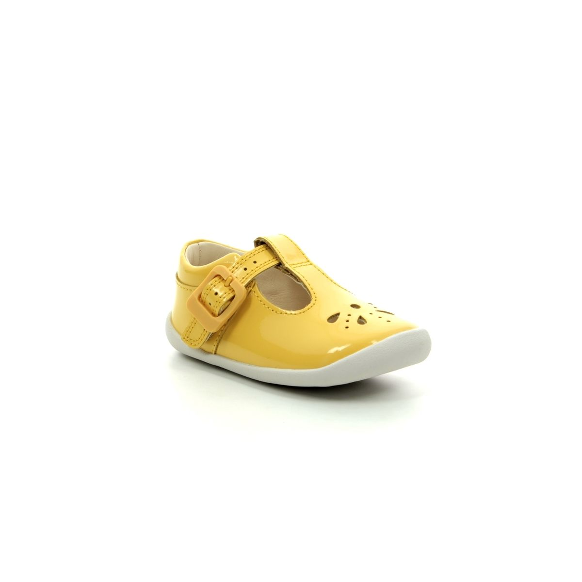 b3dd2c9d23e Clarks First Shoes - Yellow Patent - 422826F ROAMER STAR T