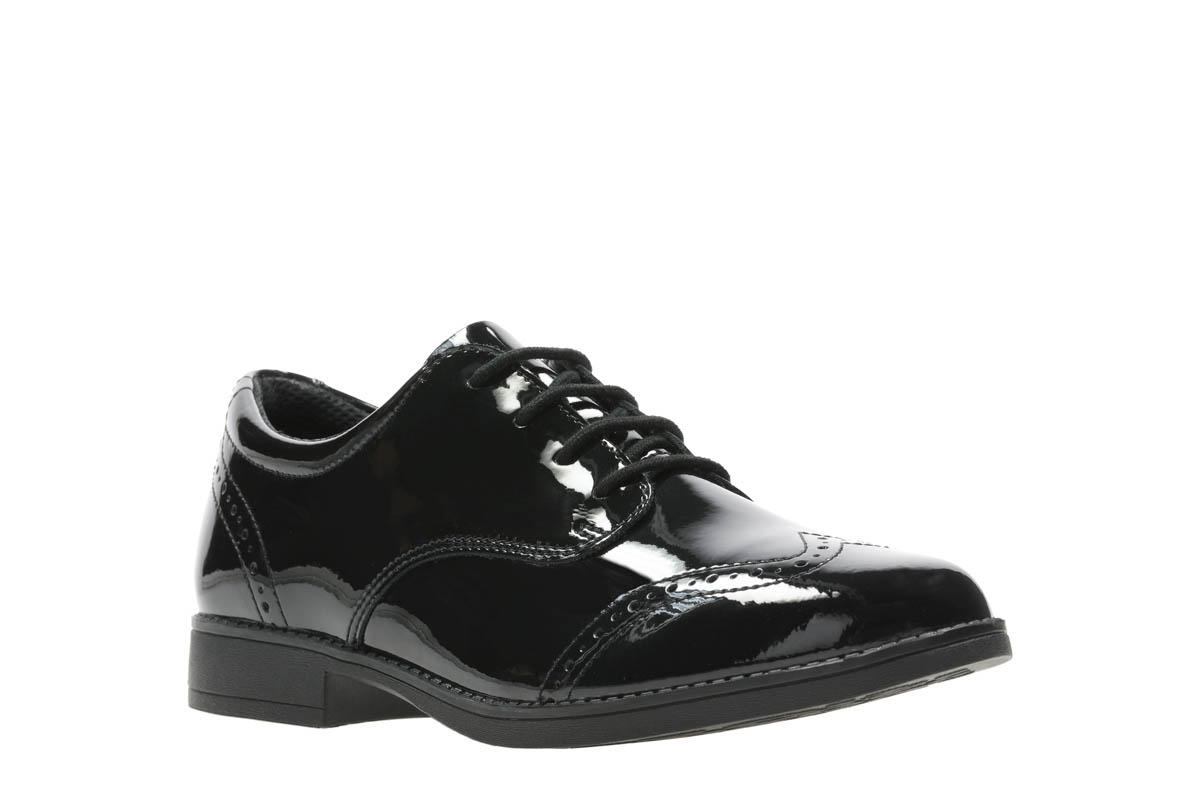 f32157171bc2 Clarks School Shoes - Black patent - 408656F SAMI WALK Y