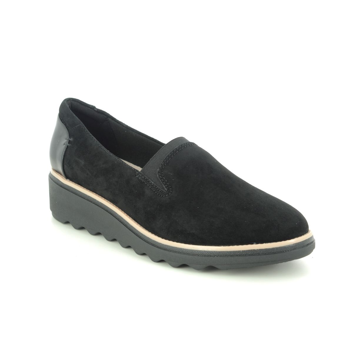 Clarks Sharon Dolly D Fit Black Suede