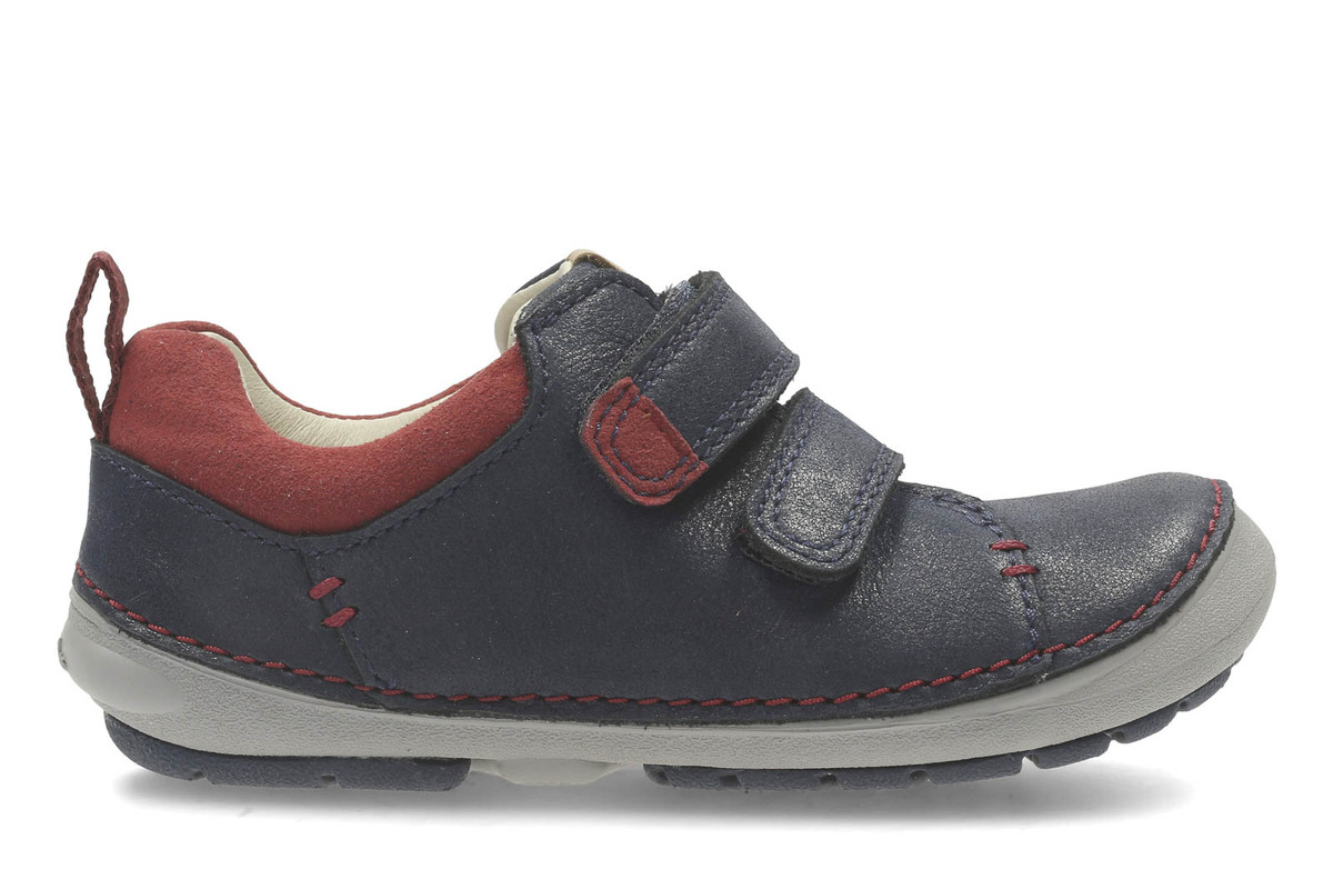 813990f0095 Clarks First Shoes - Navy - 2751/06F SOFTLY TOBY FS