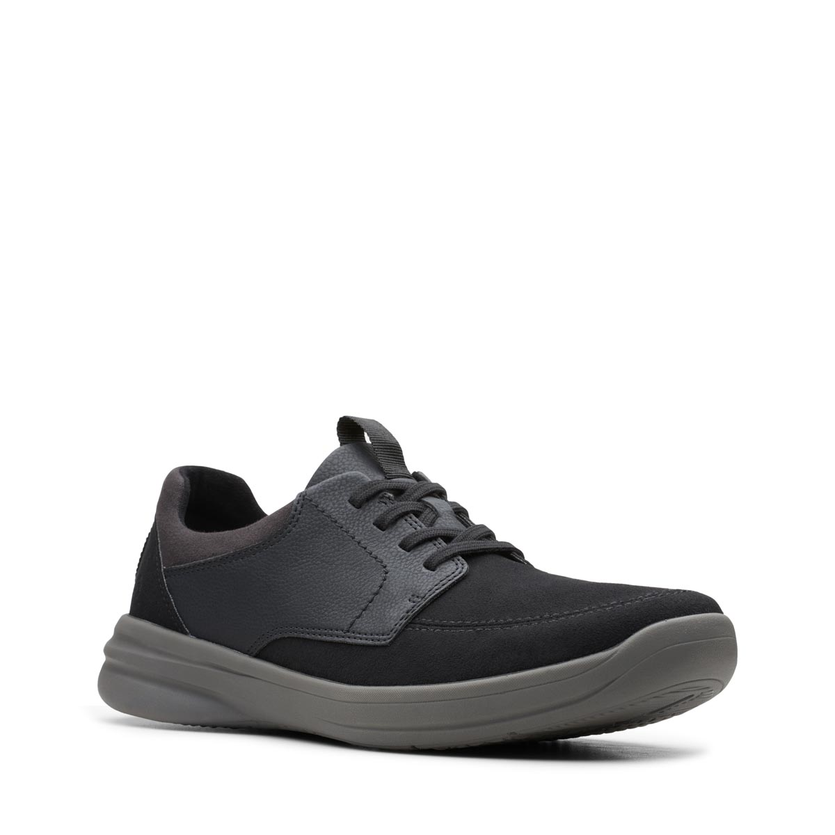 Fit Black leather casual shoes
