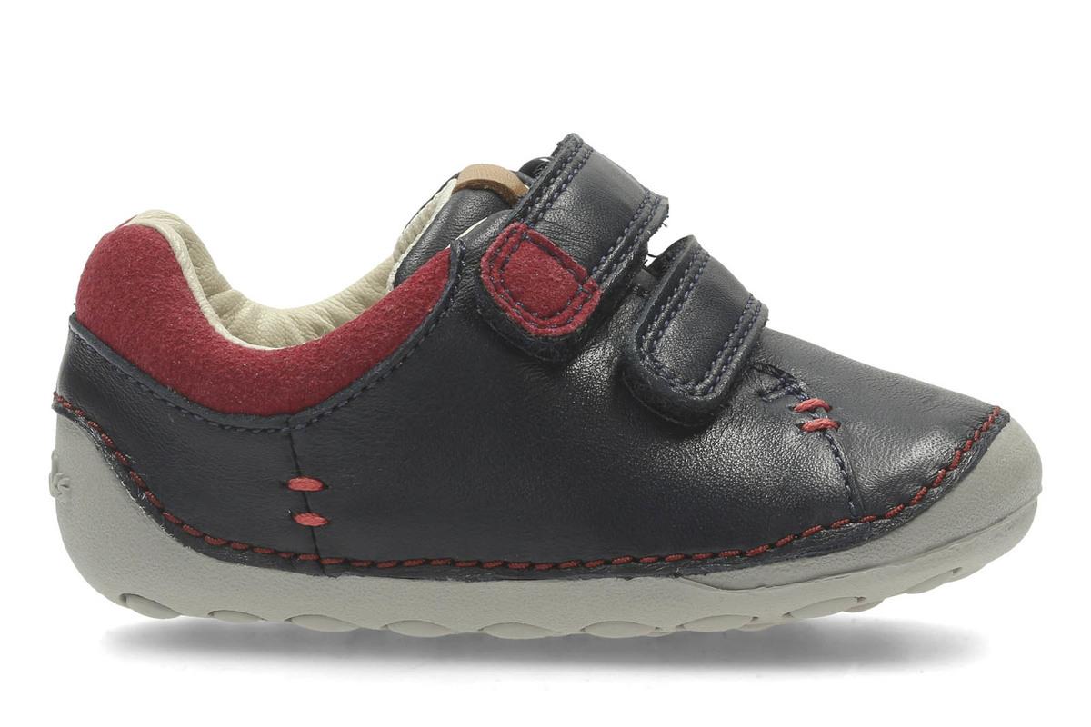 Clarks Softly Toby Fst Boys First Shoes 5 H Navy NqpnzLZ