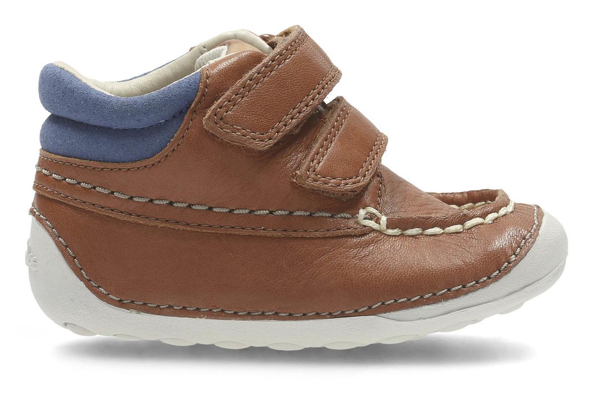 Clarks Tiny Tuktu Boys First Pre-Walker Shoes 4 G Tan WnTBN7NyX