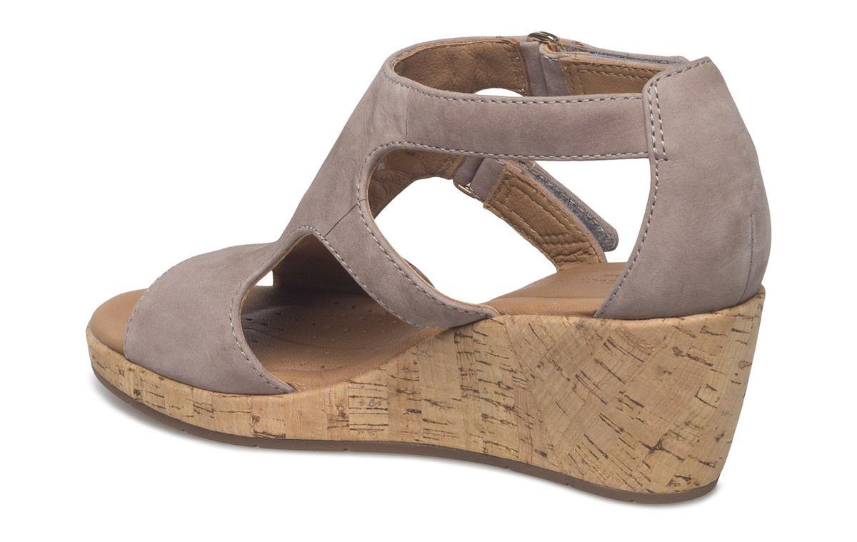 ee8bc2ff7 Clarks Wedge Sandals - Grey - 3326 44D UN PLAZA STRAP