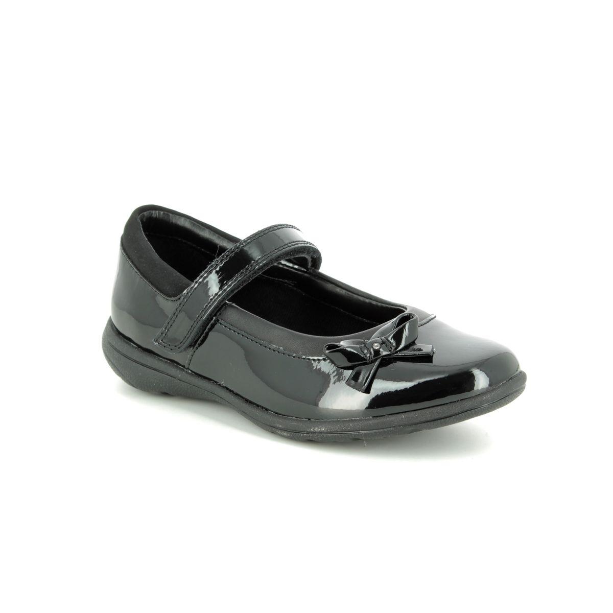 Fit Black patent school shoes