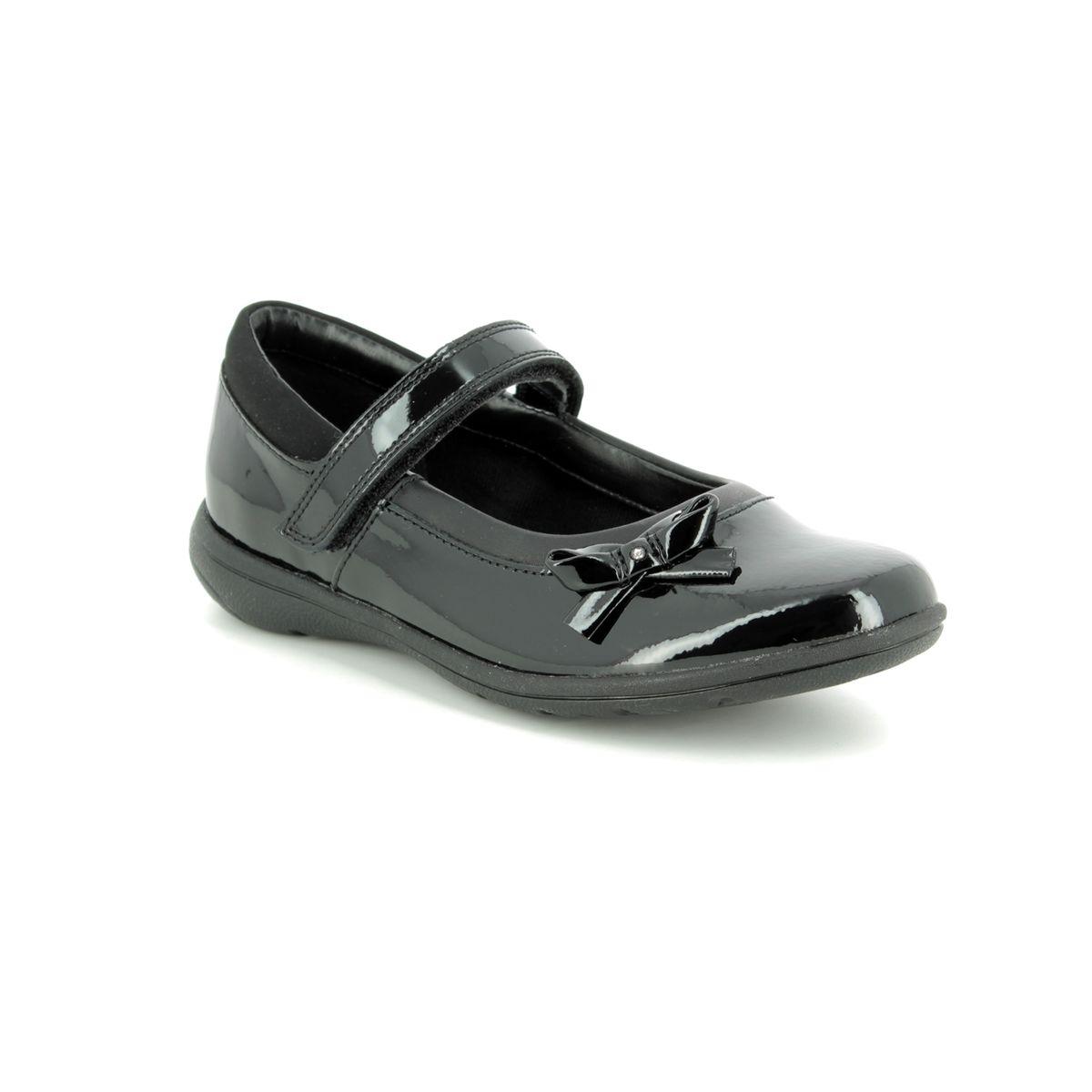 Clarks Scala Bright Girls School Shoes 2.5 UK Black Patent