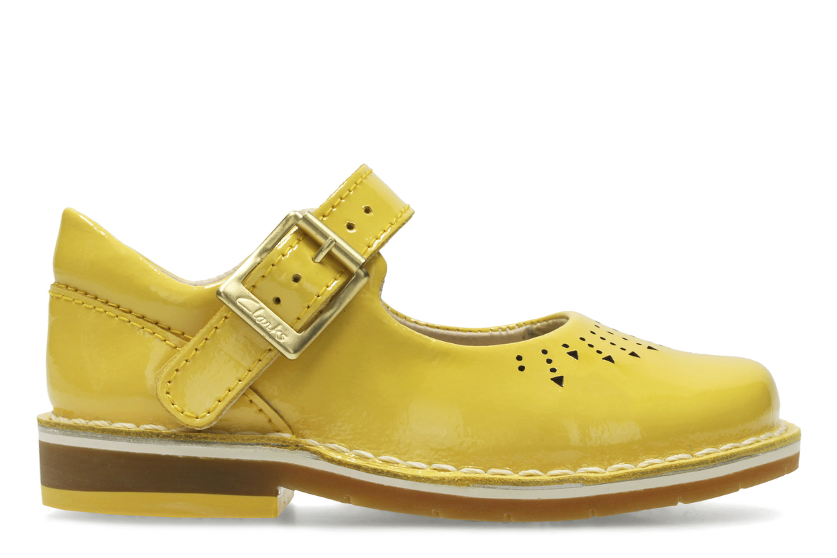 2f8ae01c61942 Clarks First Shoes - Yellow Patent - 3122/16F YARN JUMP