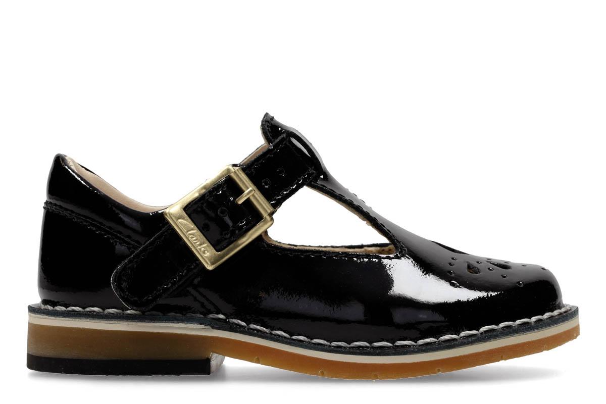8b47f4c8b9a Clarks First Shoes - Black patent - 3210 76F YARN WEAVE