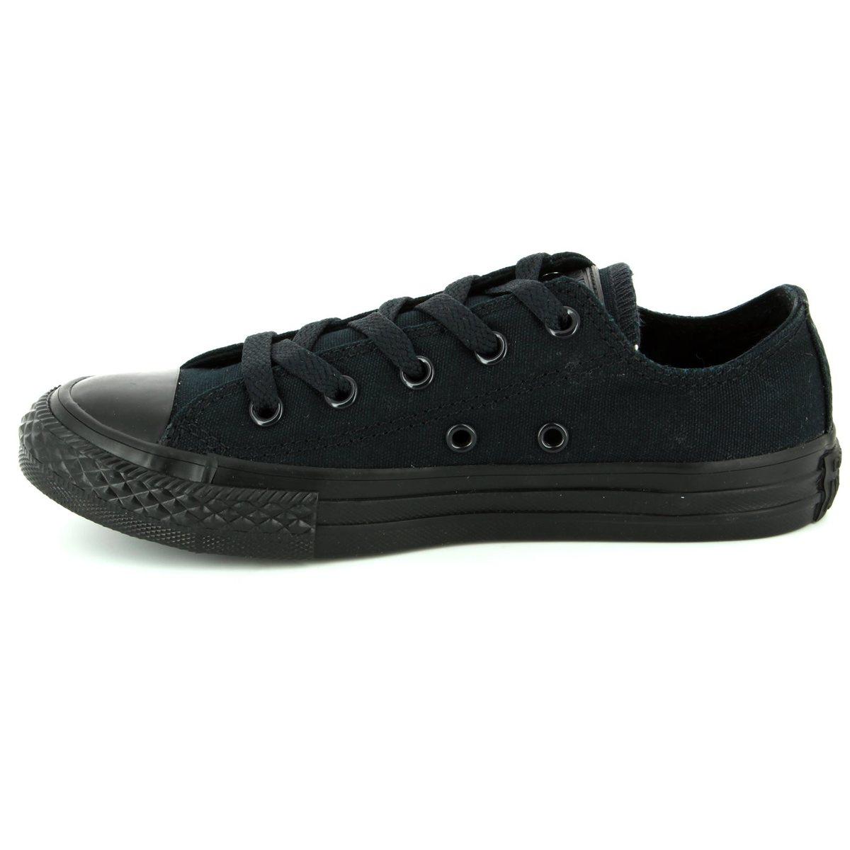 5302cf3087 Converse Trainers - Black - 314786C All Star Ox Black Monochrome