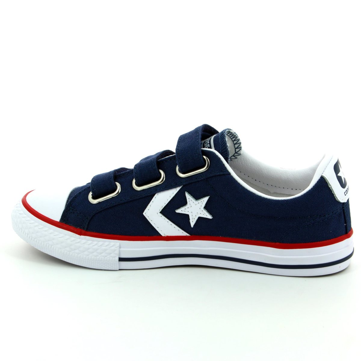 Converse Trainers - Navy - 315467 412 Star Player 3V OX Velcro 65b5e6f27