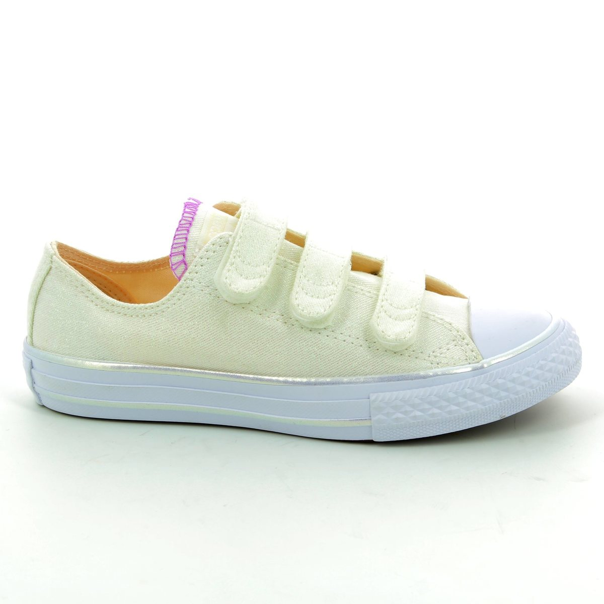 3774734014241f Converse Trainers - White multi - 656041C/102 Chuck Taylor All Star 3V OX  Velcro