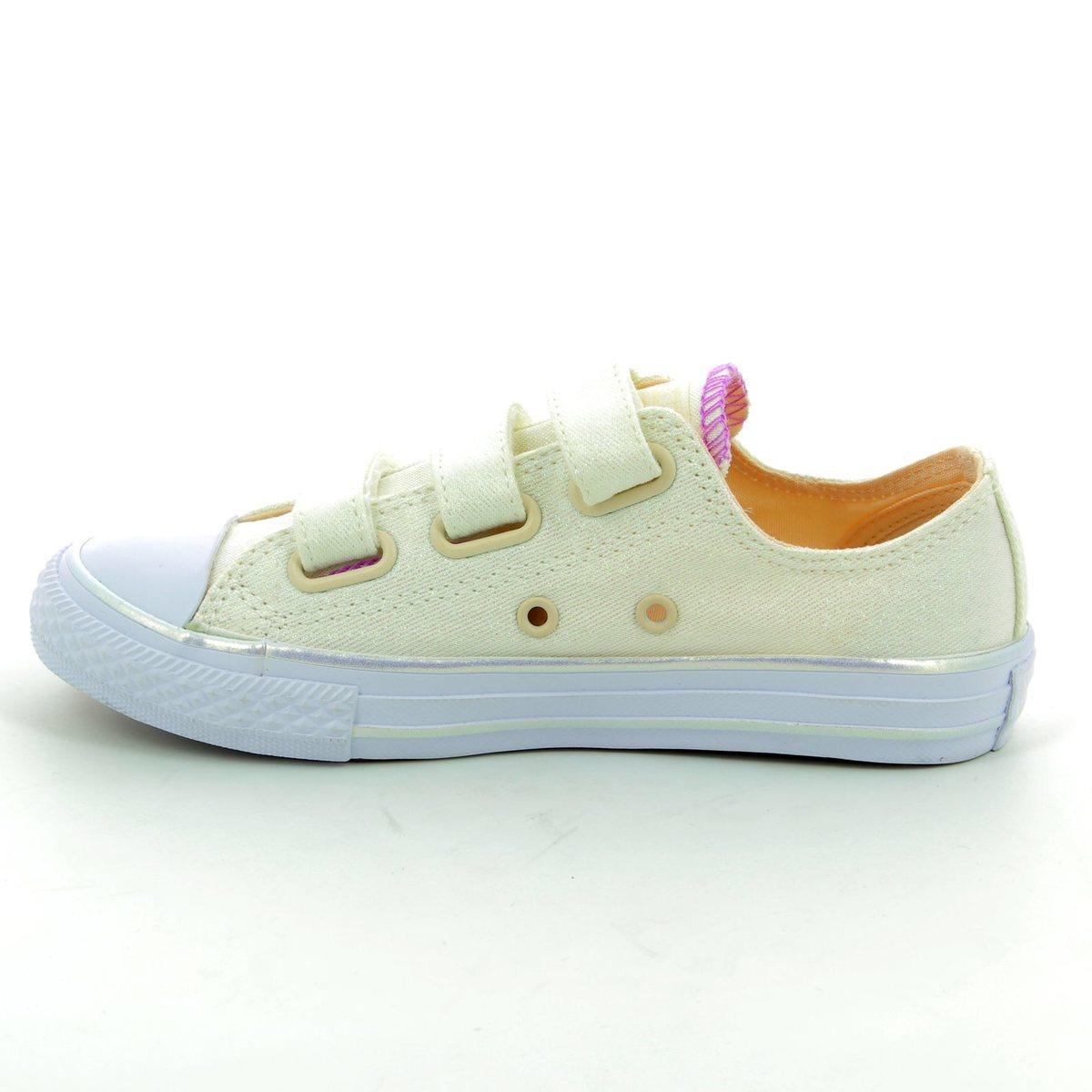 0a4a897440e8 Converse Trainers - White multi - 656041C 102 Chuck Taylor All Star 3V OX  Velcro