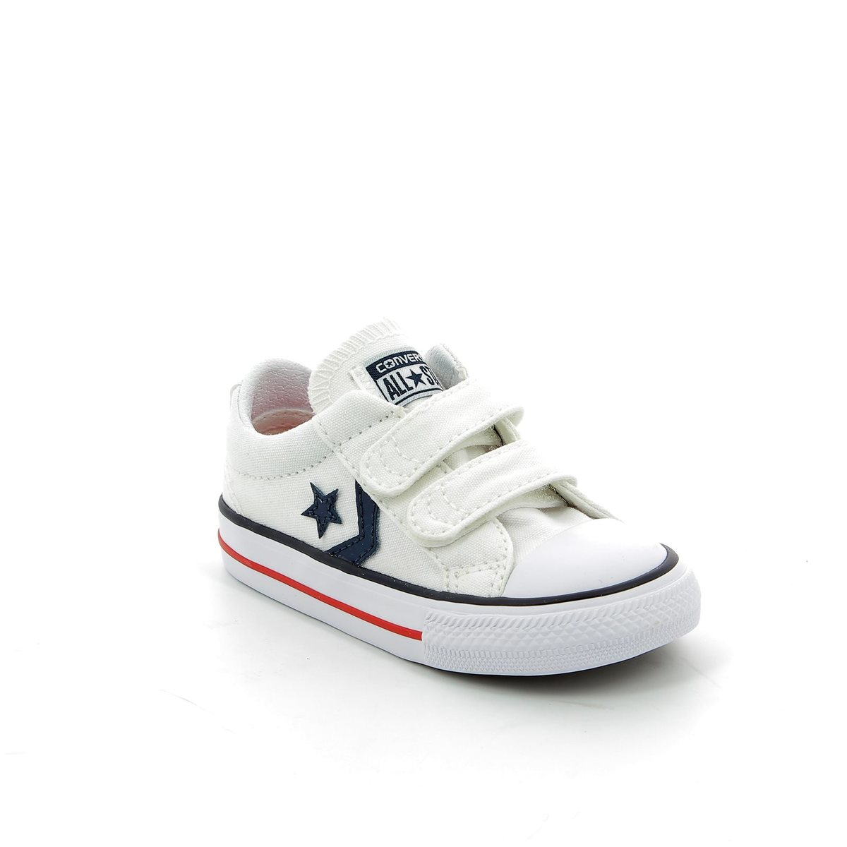 60c106de283e Converse Trainers - White multi - 715660C Star Player 2V OX Velcro