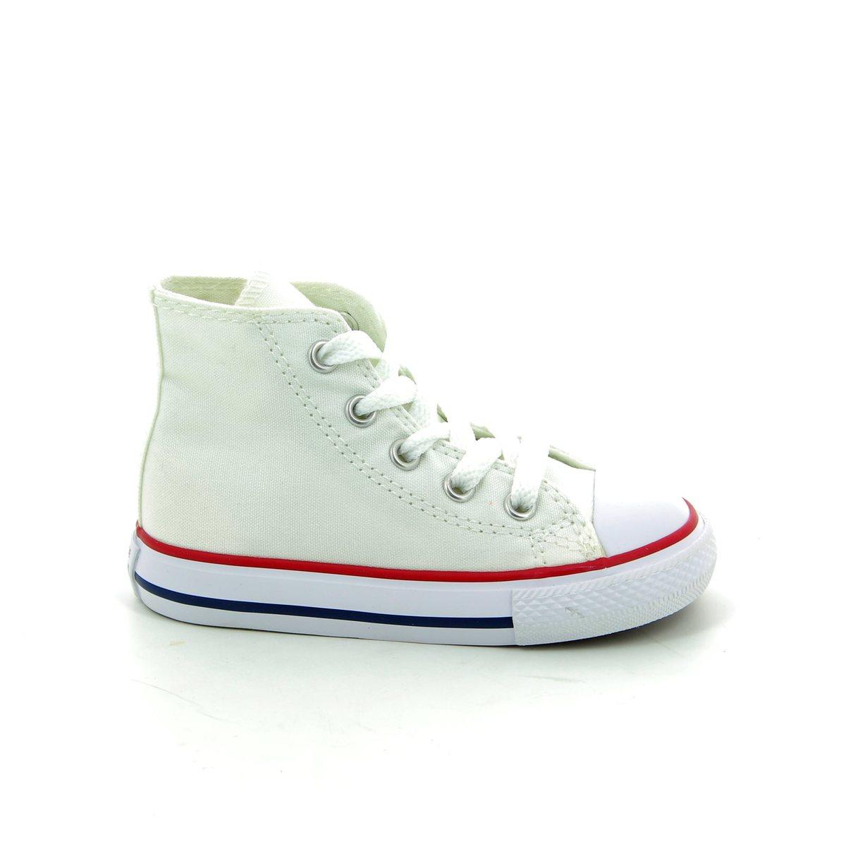 0b722a3e689 Converse Trainers - White - 7J253C 102 Infants Chuck Taylor All Star Classic  HI Tops