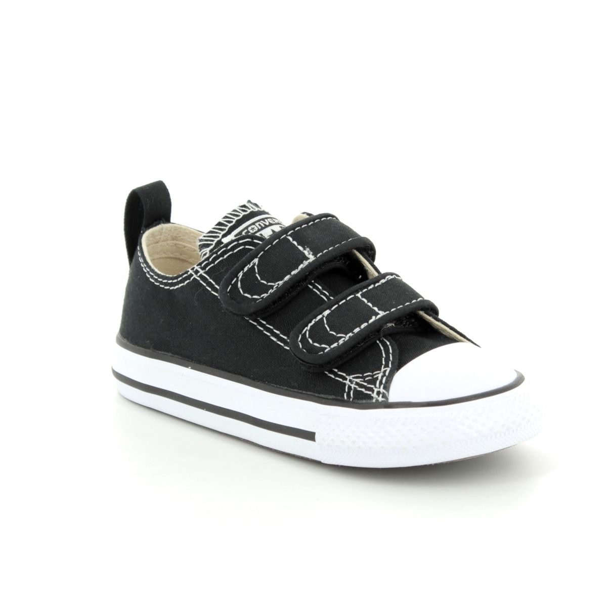 7a9c6c7b5834 Converse 7V603C 871 CHUCK TAYLOR 2V OX Velcro1 Black Kids trainers