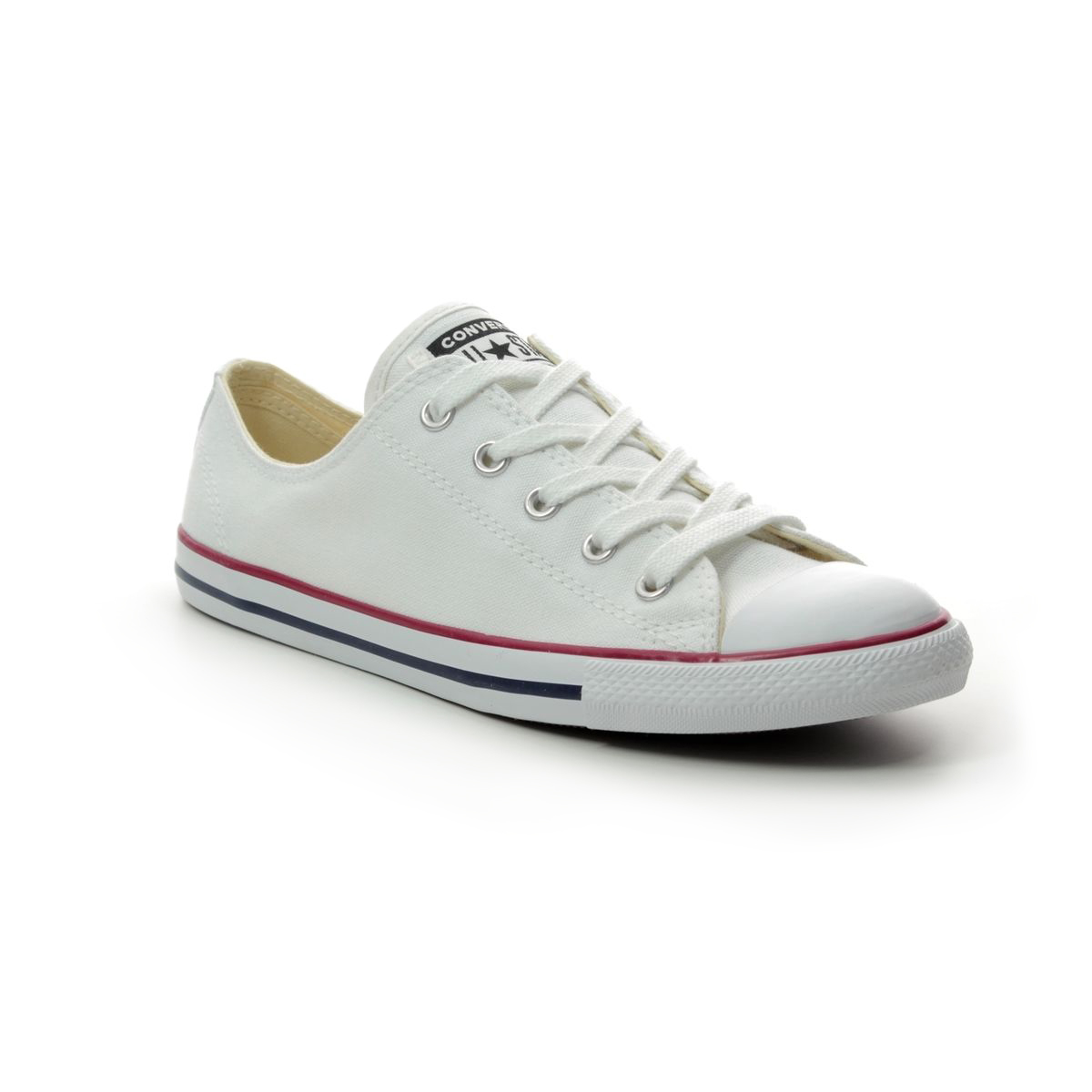 5cdaf66caf3690 Converse Trainers - White Red and Blue - 537204C ALL STAR DAINTY OX