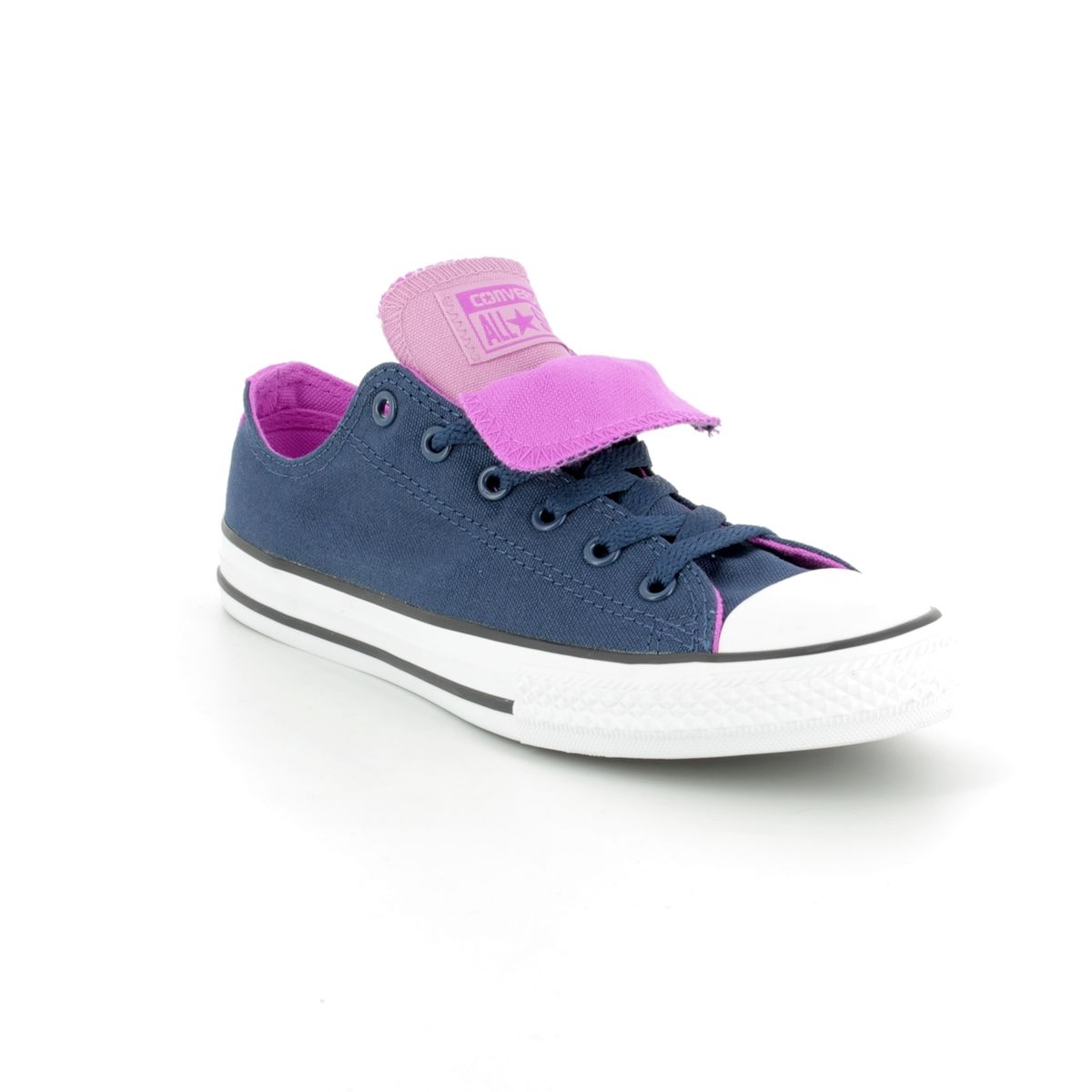 376d041b50d Converse Trainers - Navy multi - 660001C All Star Double Tongue