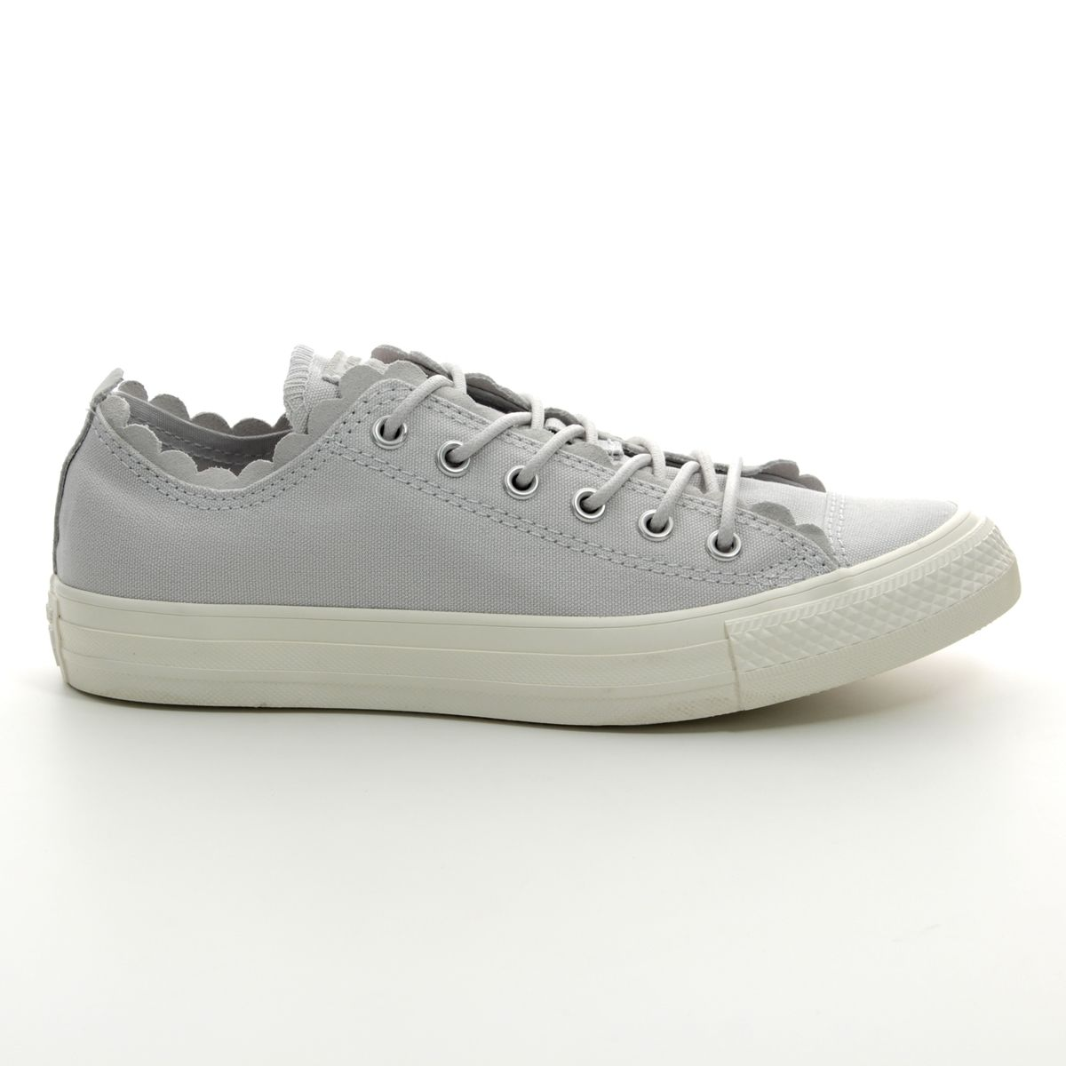 89d596151a7 Converse Trainers - Light Grey - 564112C ALL STAR FRILLS