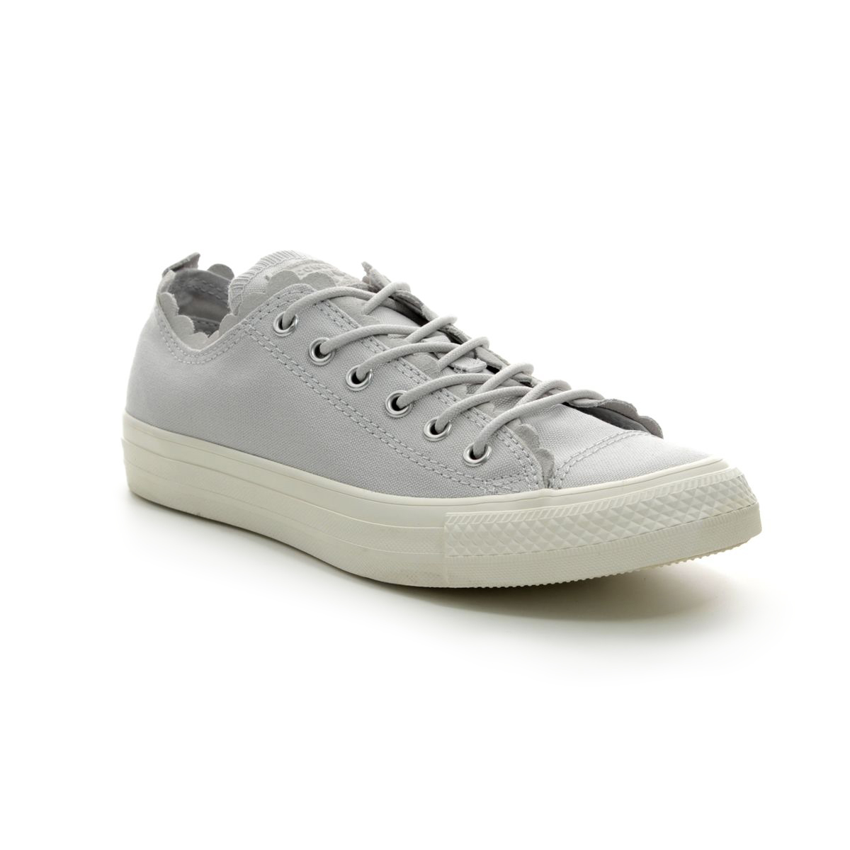 7cd2eae6e3ae06 Converse Trainers - Light Grey - 564112C ALL STAR FRILLS