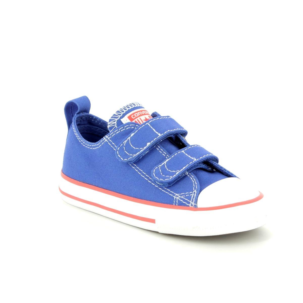 b9fae83fdf4bd3 Converse All Star Ox Velcro Infants 760050C Blue Kids trainers
