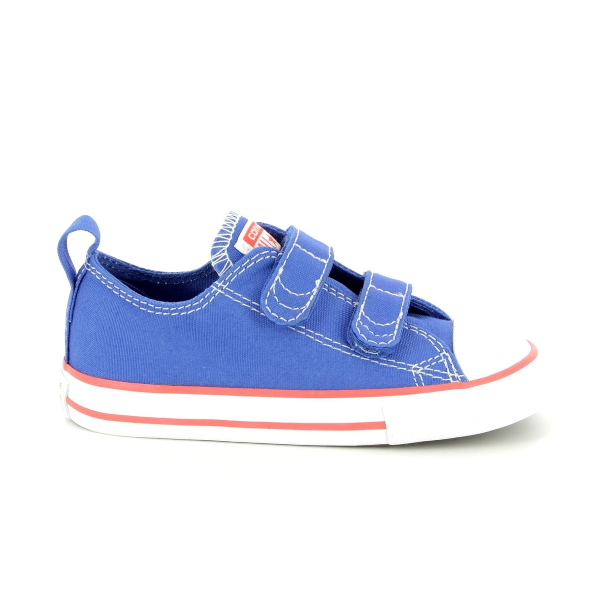 8c4907708593 Converse All Star Ox Velcro Infants 760050C Blue Kids trainers